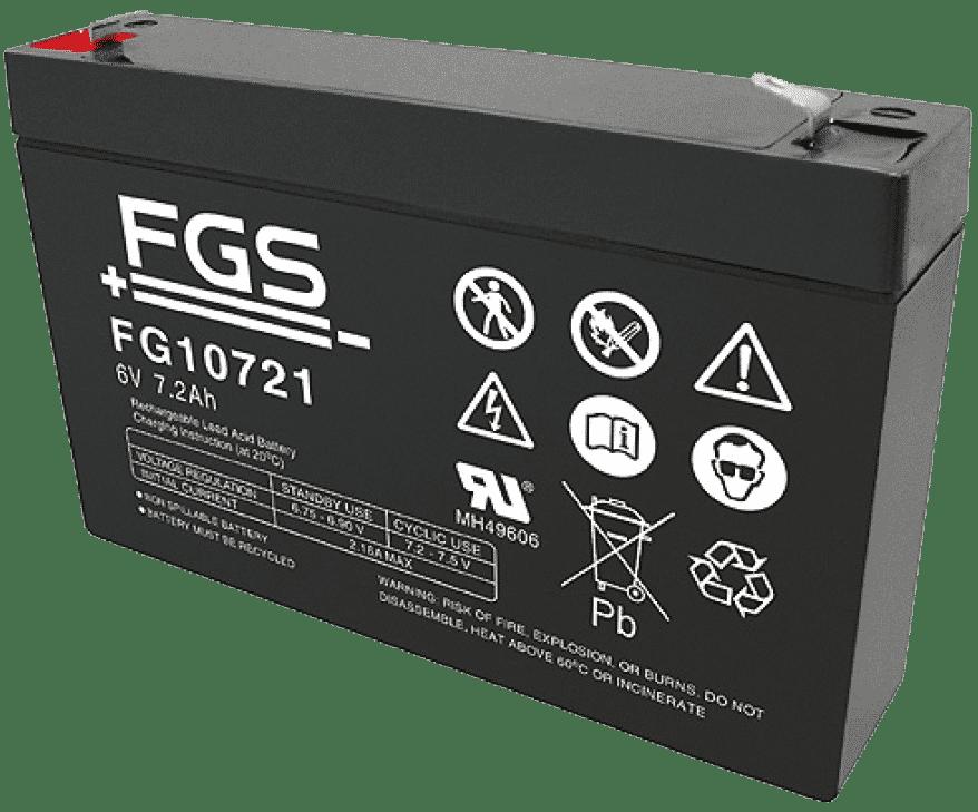 FGS Blyack. 6V/7,2Ah