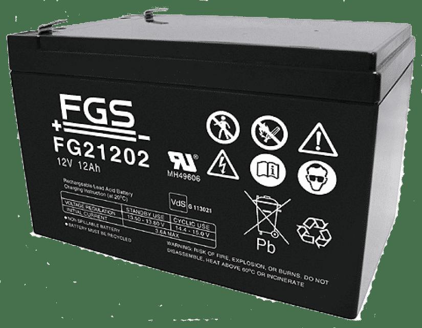 FGS Blyack. 12V/12Ah Vds